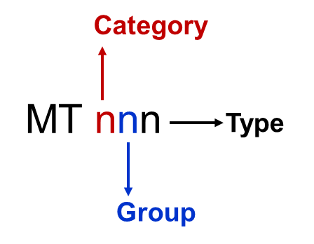 Image of SWIFT Message category, groupe and type